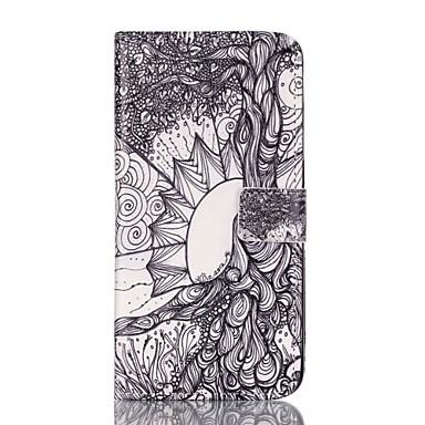 Capinha Para Apple iPhone 8 iPhone 8 Plus Porta-Cartão Carteira Com Suporte Flip Estampada Capa Proteção Completa Estampa Geométrica