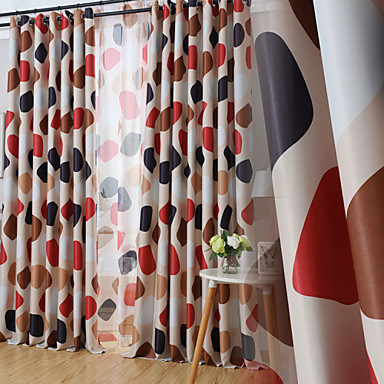 To paneler Window Treatment Moderne , Nyhet Stue Polyester Materiale Blackout Gardiner Hjem Dekor For Vindu