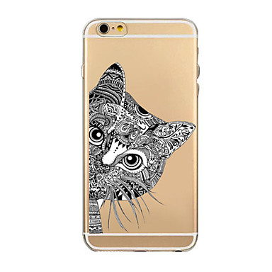 Varten iPhone 6 kotelo iPhone 6 Plus kotelo kotelot kuoret Ultraohut Läpinäkyvä Kuvio Takakuori Etui Piirros Pehmeä TPU varteniPhone 6s
