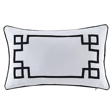 1 Stück Baumwolle Kissen mit Füllung, Geometrisch Traditionell