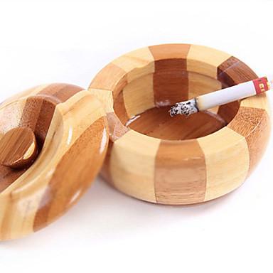 יד קישוטי בית המאפרה סיגר ללא עשן עץ עגול מגניבה מאפרת במבוק צורת תפוח