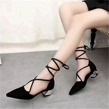 Women's Summer Comfort Leatherette Outdoor Casual Low Heel Lace-up Black Red Khaki