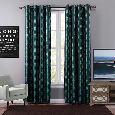 Purjerengas One Panel Window Hoito Moderni, Jakardi Geometrinen Makuuhuone Polyesteri materiaali Pimennysvuoritus Drapes Kodinsisustus