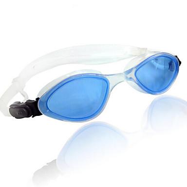 Óculos de Natação Anti-Nevoeiro Tamanho Ajustável silica Gel PC Transparentes Preto Azul