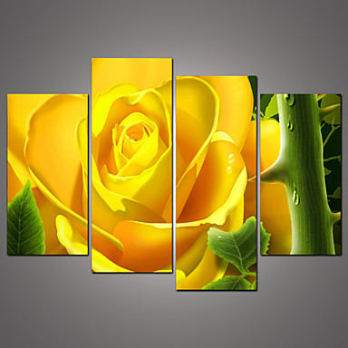 Kasvitiede Canvas Tulosta 4 paneeli Valmis Hang,Horizontal
