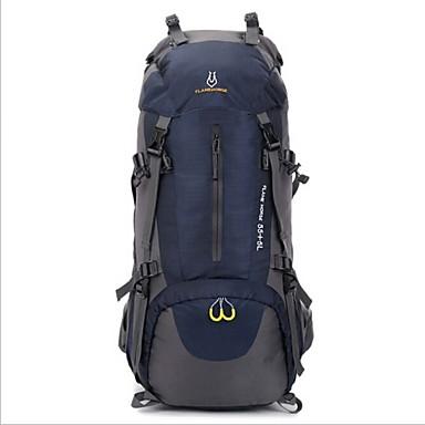 60L L Rucksack Camping & Wandern Reisen Wasserdicht Wasserdichter Reißverschluß tragbar Atmungsaktiv Oxford Nylon