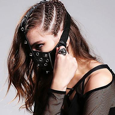 Lolita Accessories Gothic Lolita Punk Lolita Mask Viktoriaaninen Ruskea Hopea Lolita Tarvikkeet Mask Patchwork Varten