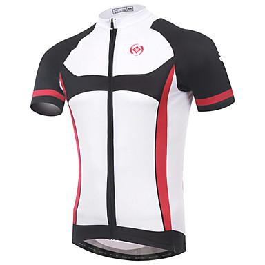 XINTOWN בגדי ריקוד גברים שרוולים קצרים חולצת ג'רסי לרכיבה אופניים ג'רזי, ייבוש מהיר, עמיד אולטרה סגול, נושם