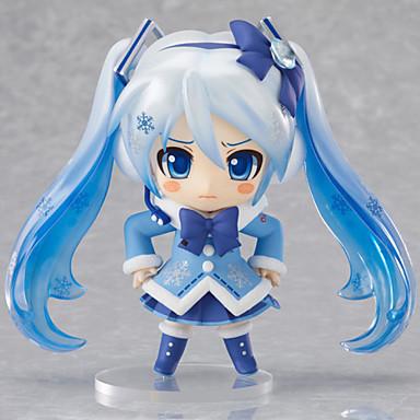 Anime Toimintahahmot Innoittamana Vocaloid Snow Miku PVC 9 CM Malli lelut Doll Toy