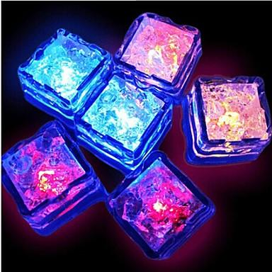 12kpl sininen / punainen / vihreä / vaaleanpunainen / keltainen / RGB / luonnonvalkoinen vaihtavat LED neste valoisuuden tunnistin