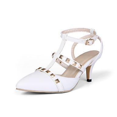 Sandaalit-Piikkikorko-Naisten kengät-Tekonahka-Musta / Pinkki / Valkoinen-Puku-Teräväkärkiset