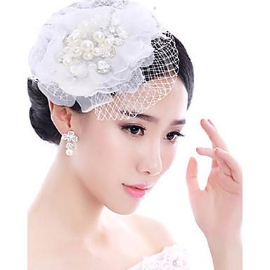 Perle / Feder Fascinatoren / Kopfbedeckung mit Blumig 1pc Hochzeit / Besondere Anlässe Kopfschmuck