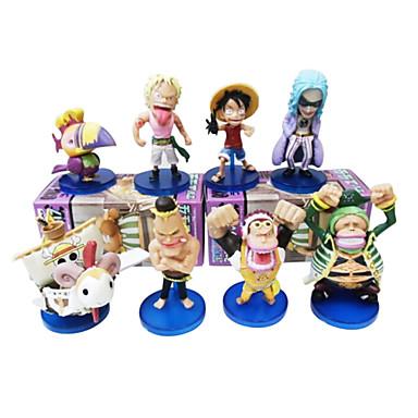 애니메이션 액션 피규어 에서 영감을 받다 One Piece 코스프레 PVC 8 CM 모델 완구 인형 장난감