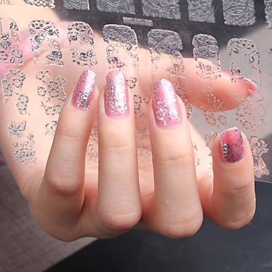 3D Nail Stickers-Akryyli-Kukka-Sormi / Varvas-20CM*20CM-1