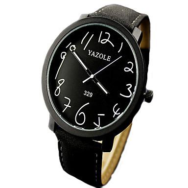 Herrn Quartz Armbanduhr Schlussverkauf Leder Band Charme Modisch Schwarz Braun