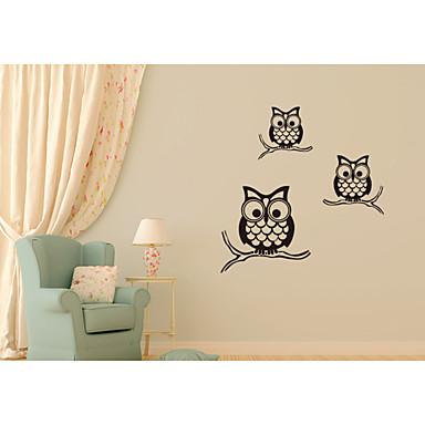 Tiere Romantik 3D Cartoon Design Botanisch Wand-Sticker Tier Wandaufkleber Dekorative Wand Sticker, Vinyl Haus Dekoration Wandtattoo Wand
