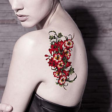 Tatuointitarrat Kukkasarjat piirrossarjan Piirretty Naisten Miesten Aikuinen Teini Flash Tattoo väliaikaiset tatuoinnit