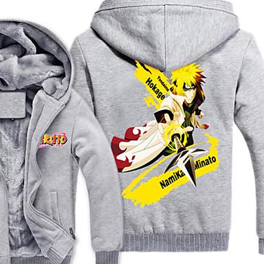 Inspiré par Naruto Naruto Uzumaki Manga Costumes de Cosplay Cosplay à Capuche Imprimé Manches Longues Haut Pour Masculin