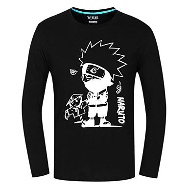 קיבל השראה מ Naruto Hatake Kakashi אנימה תחפושות קוספליי חולצות קוספליי / תחתון דפוס שרוול ארוך עליון עבור זכר