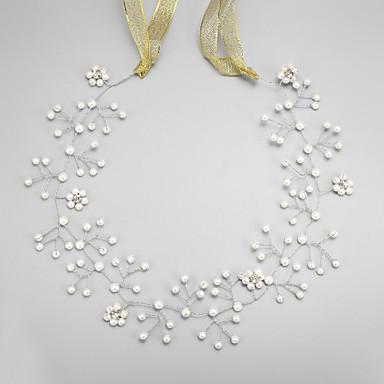 Imiteret Perle / Rhinsten / Legering Pandebånd med 1 Bryllup / Speciel Lejlighed Medaljon
