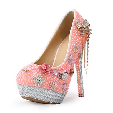 Rosa-Bryllup sko-Dame-Hæler-høye hæler-Bryllup / Formell / Fest/aften