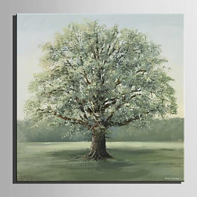 Pintados à mão Floral/Botânico Quadrada, Estilo Europeu Tela de pintura Pintura a Óleo Decoração para casa 1 Painel