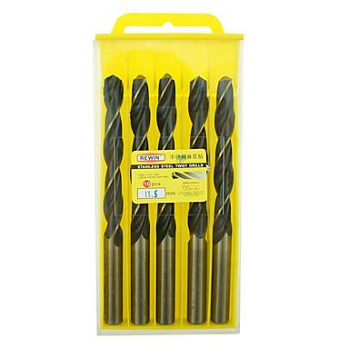 ferramenta inoxidável rewin® cobalto contendo diâmetro broca helicoidal: 11,5 milímetros com 5pcs / box