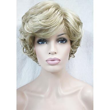 Włosy syntetyczne Peruki Kręcone Bez czepka Peruka naturalna Krótki