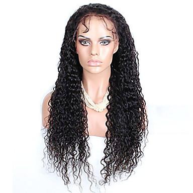 여성 브라질 처녀 머리 색깔 (# 1 # 1B # 2 # 4) 곱슬 머리 레이스 앞 가발