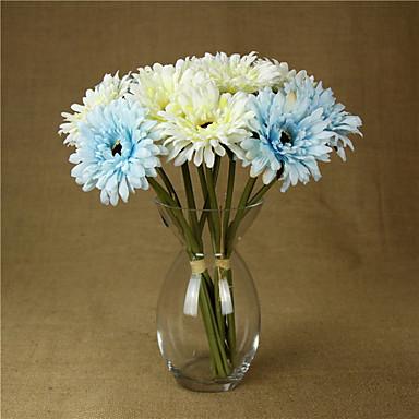Flores artificiais 1 Ramo buquês de Noiva Margaridas Flor de Mesa
