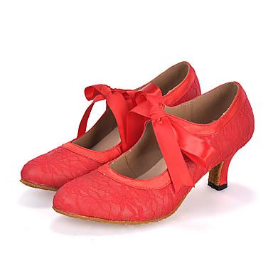 Személyre szabható-Kúpsarok-Szatén / Csipke-Hastánc / Latin / Dzsessz / Modern / Samba / Swing-cipők-Női