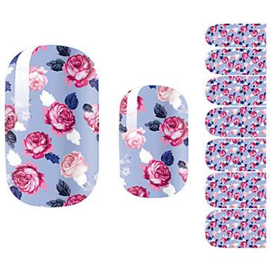 1pcs 3D Nail Stickers Nail Stamping Template Daglig Blomst Tegneserie Mote Smuk Høy kvalitet
