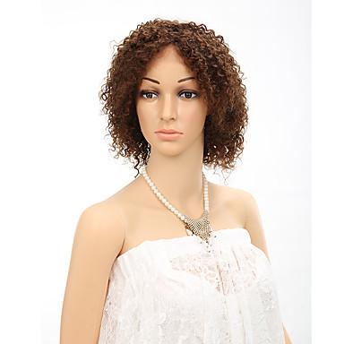 Echthaar Spitzenfront Perücke Kinky Curly 130% Dichte 100 % von Hand geknüpft Afro-amerikanische Perücke Natürlicher Haaransatz Kurz Damen