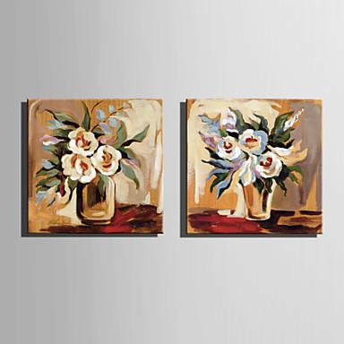 Pintados à mão Floral/BotânicoEstilo Europeu 1 Painel Tela Pintura a Óleo For Decoração para casa