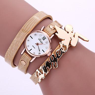 Damen Modeuhr Armband-Uhr Quartz Legierung Band Glanz Schwarz Weiß Blau Rot Orange Braun Grün