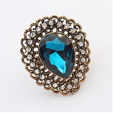 Ringe Damen Kristall / Strass Legierung Legierung Verstellbar Gold / Weiß / Rot / Grün / Purpur Die Ringgröße kann verstellbar