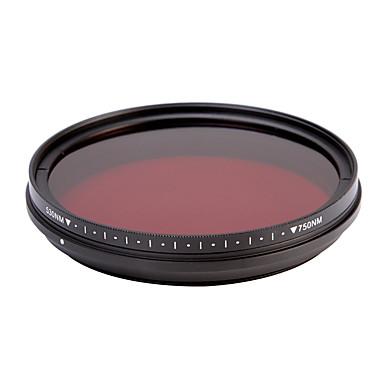 fotga® all-in-one passe ir infravermelho raio-x filtro de lente 530nm-750nm ajustável 46/49 / 52/55 milímetros