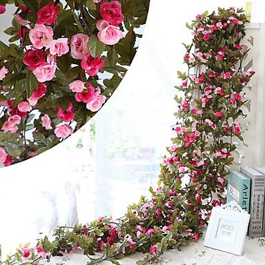 Künstliche Blumen 1 Ast Pastoralen Stil Rosen Wand-Blumen