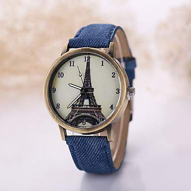 Herrn Armbanduhr Quartz Armbanduhren für den Alltag Stoff Band Schwarz Weiß
