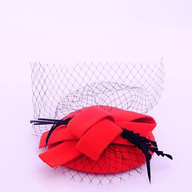 flannelette fjær netto fascinators headpiece klassisk feminin stil