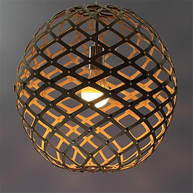 Vedhæng Lys Op Lys Andre Træ / bambus Træ / bambus LED 220-240V Mangefarvet Pære ikke Inkluderet / VDE / E26 / E27