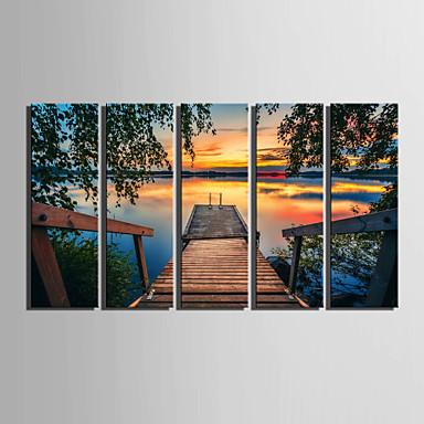 Paisagem Impressão em tela 5 Painéis Pronto para pendurar,Vertical