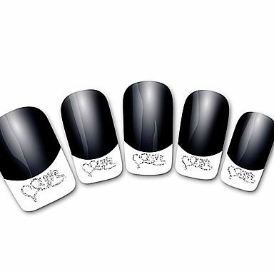 abstrakte svart xf821 fransk 3d spiker klistremerker