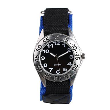 Masculino Relógio de Moda Quartzo Impermeável Tecido Banda Casual Azul Preto/Azul