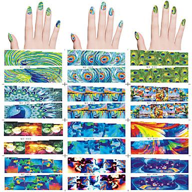 12 Neglekunst klistremerke Vann Overføre Dekor Andre Dekorationer Tegneserie Smuk Sminke Kosmetikk Neglekunst Design