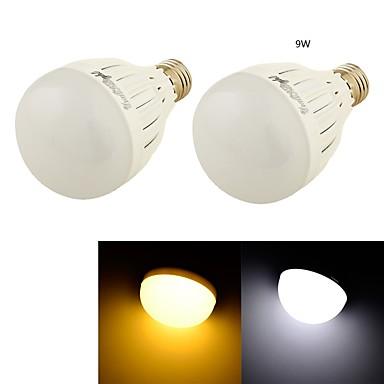 9W E26/E27 LED-pallolamput B 18 SMD 5730 850 lm Lämmin valkoinen / Kylmä valkoinen Koristeltu AC 85-265 / AC 220-240 / AC 110-130 V 2 kpl