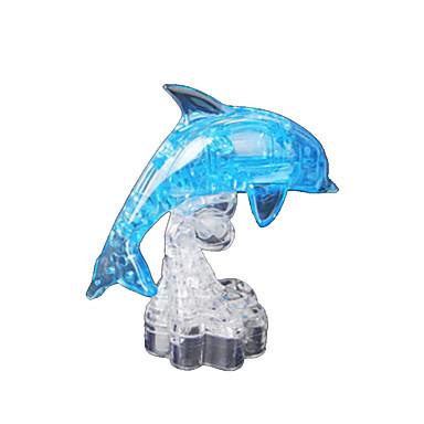 Puslespill 3D-puslespill / Krystallpuslespill Byggeklosser DIY leker Delfin ABS Brun Modell- og byggeleke