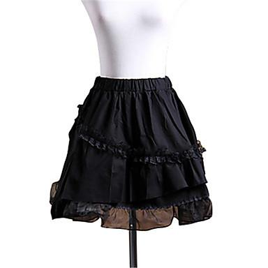 Gothic Lolita Dress Princess Lace Women's Skirt Petticoat Cosplay Short Length