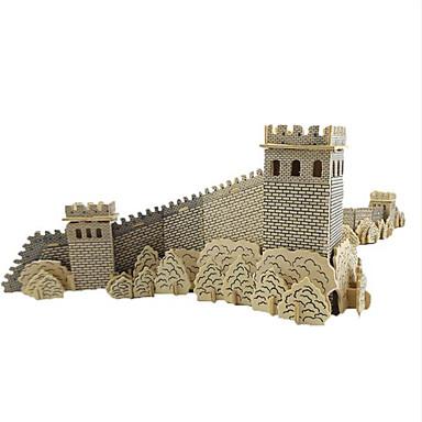 Quebra-cabeças Quebra-Cabeças 3D Quebra-Cabeças de Madeira Blocos de construção Brinquedos Faça Você Mesmo Arquitetura Chinesa Madeira