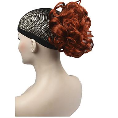 voordelige Haar Stukken-Paardenstaart Synthetisch haar Haar stuk Haarextensies Gekruld Kort